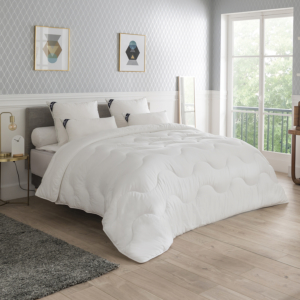 Pack: warm duvet with anti-mite anti-stain pillows